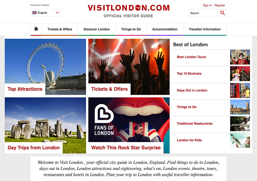 London City Guide Website